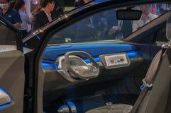 Shanghai Auto toont het binnenland van identiteitskaart van VW van 2017 Stock Afbeelding