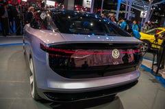 Shanghai Auto toont identiteitskaart van VW van 2017 Stock Foto