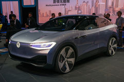 Shanghai Auto toont identiteitskaart van VW van 2017 Royalty-vrije Stock Foto's
