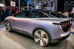 Shanghai Auto toont identiteitskaart van VW van 2017 Stock Fotografie