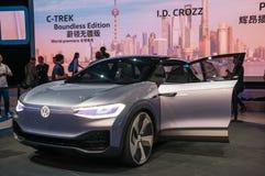Shanghai Auto toont identiteitskaart van VW van 2017 Stock Afbeeldingen
