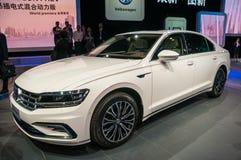 Shanghai Auto toont VW Phideon van 2017 Stock Foto's