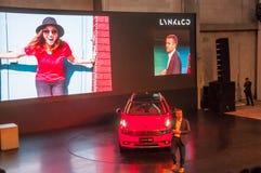 Shanghai-Automobilausstellung 2017 LYNK u. Co 01 Auto Stockbild