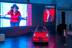 Shanghai-Automobilausstellung 2017 LYNK u. Co 01 Auto Lizenzfreies Stockfoto