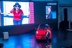 Shanghai-Automobilausstellung 2017 LYNK u. Co 01 Auto Stockfotos