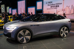 Shanghai-Automobilausstellung VW-Identifikation 2017 Stockfoto