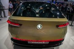 Shanghai-Automobilausstellungs-Skoda-Vision 2017 E Lizenzfreie Stockbilder