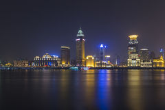Shanghai at beautiful night. Seen across the river stock photos
