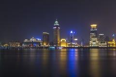 Shanghai at beautiful night. Seen across the river Stock Photos