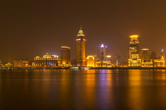 Shanghai at beautiful night. Seen across the river Stock Images