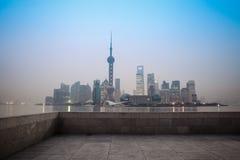 Shanghai bij dageraad Stock Foto
