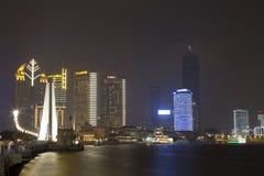 Shanghai bij nacht Royalty-vrije Stock Foto
