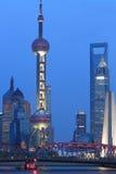 De stadslandschap van Shanghai Stock Foto