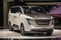 Shanghai bilar auto show W 2017 Iconiq 7 Arkivbild