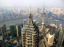 Shanghai  birdview. A birdview of shanghai city Stock Photography