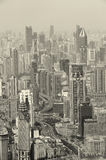 Shanghai in black and white Royalty Free Stock Photography