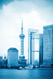 Shanghai blue scenery Royalty Free Stock Photos