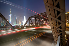 Shanghai Bridge Stock Photography
