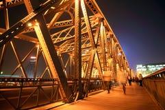 Shanghai bridge night Stock Photos