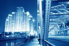 Shanghai bridge night Stock Photo
