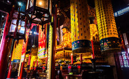 SHANGHAI Buddhist Statues at Jade Buddha temple Royalty Free Stock Image