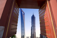 Shanghai building view:traditional vs mordern Stock Images