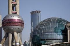 Shanghai Buildings. Modern buildings in Shanghai, China Stock Photo
