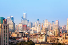 Shanghai buildings in morning Royalty Free Stock Images