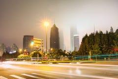 Shanghai buildings. Puxi long exposure shot in Shanghai Stock Photography