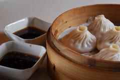 Shanghai Bun. Chinese food Shanghai bun sauce Stock Photo