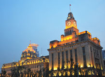 Shanghai Bund. View of the  Shanghai Bund at night Royalty Free Stock Photo