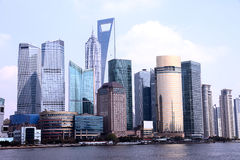 Shanghai The Bund. Shanghai financial district in the bund Royalty Free Stock Photography