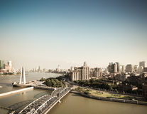 Shanghai bund in the afternoon Royalty Free Stock Image