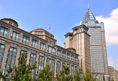 Shanghai Bund buildings as landmark Stock Photo