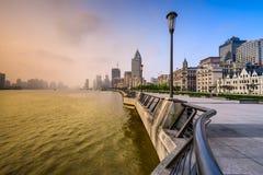 Shanghai at the Bund Stock Image