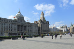 Shanghai the bund daytime scenery Royalty Free Stock Photos