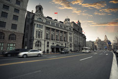 Shanghai the bund at dusk Royalty Free Stock Photos