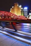 Shanghai bund garden bridge at night Royalty Free Stock Photos
