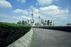 Shanghai bund landmark skyline at city landscape Stock Image