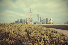 Shanghai bund landmark skyline Stock Photography
