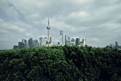 Shanghai bund landmark skyline at city landscape Royalty Free Stock Photo