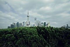 Shanghai bund landmark skyline at city landscape. Shanghai bund landmark skyline landscape Royalty Free Stock Photo