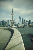 Shanghai bund landmark skyline at city landscape Stock Photos