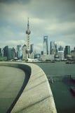 Shanghai bund landmark skyline at city landscape. Shanghai bund landmark skyline landscape Stock Photos