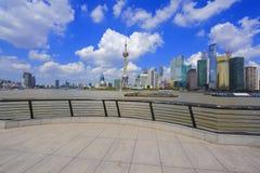 Shanghai bund landmark skyline. Shanghai landmark skyline at bund city landscape Royalty Free Stock Photos
