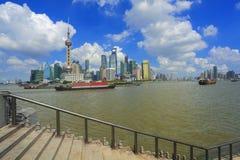 Shanghai bund landmark skyline. Lujiazui Finance&Trade Zone of Shanghai bund landmark skyline  c Stock Photo