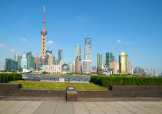 Shanghai bund landmark skyline Royalty Free Stock Photography