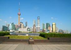 Shanghai bund landmark skyline. Lujiazui Finance&Trade Zone of Shanghai bund landmark skylin at Royalty Free Stock Photography