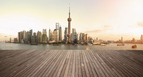 Shanghai bund landmark skyline urban buildings landscape Stock Photo