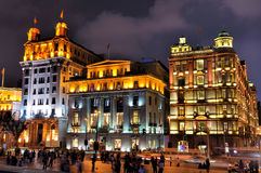 Shanghai Bund lighting buildings in night, China Stock Photos